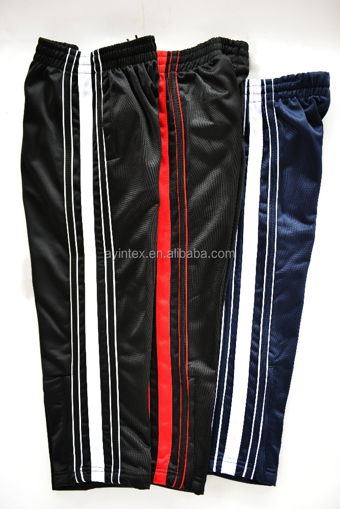Popular hot selling men's polyester tricot jogging pants