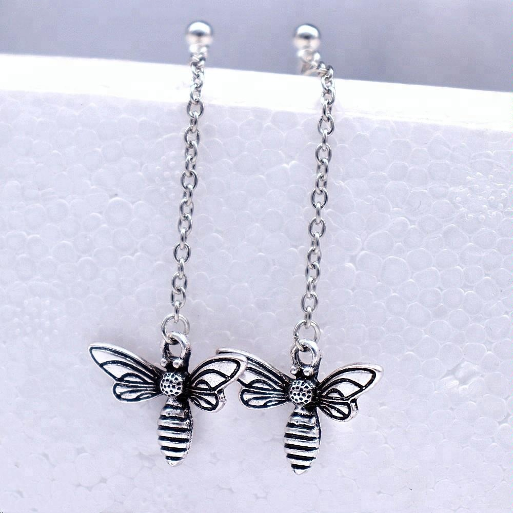 Exquisite Tassels Long Chain Cute Bee Dangle Earrings For Women Jewelry Spirit Gifts