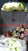 clear crystal vase for wedding table centerpiece