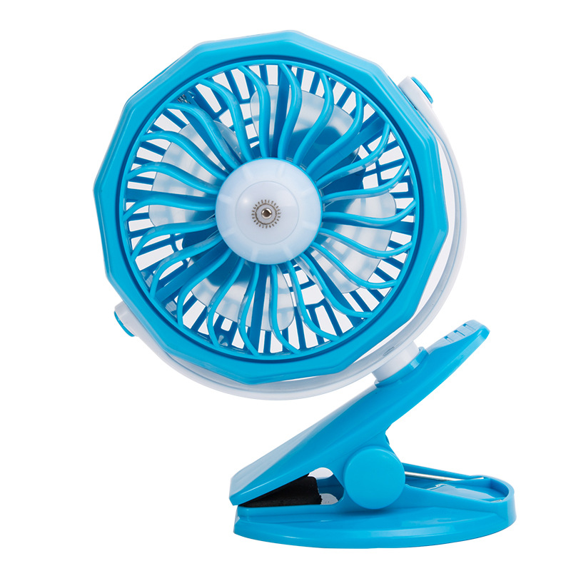 zogift Mini Rechargeable Operated Mini Desk USB Fan USB Clip Desk Personal Fan
