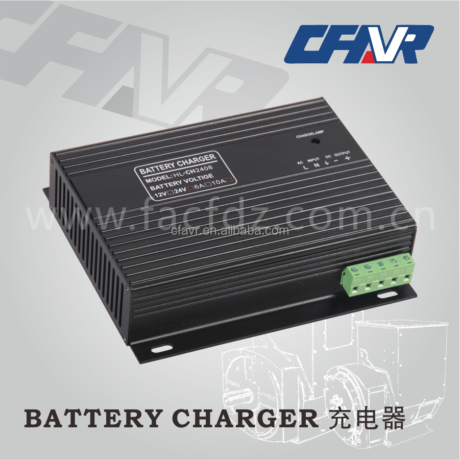 Diesel Generator Automatic Battery Charger 12VDC 24VDC 4A,6A,10A