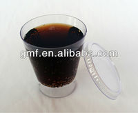 2013 hot sell new design plastic disposable OEM cups and lid