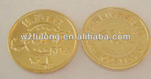 custom plastic souvenir gold coin