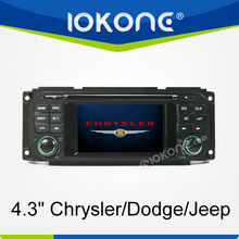 4.3'' HD 2 din Touch screen Radio GPS player for Chrysler/Dodge/Jeep series