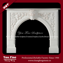 Indoor Used Decorative Fireplace Mantles, Stone Wooden Fireplace