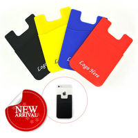 Factory Offer Silicone Smart Wallet ,Card Holder For Mobile