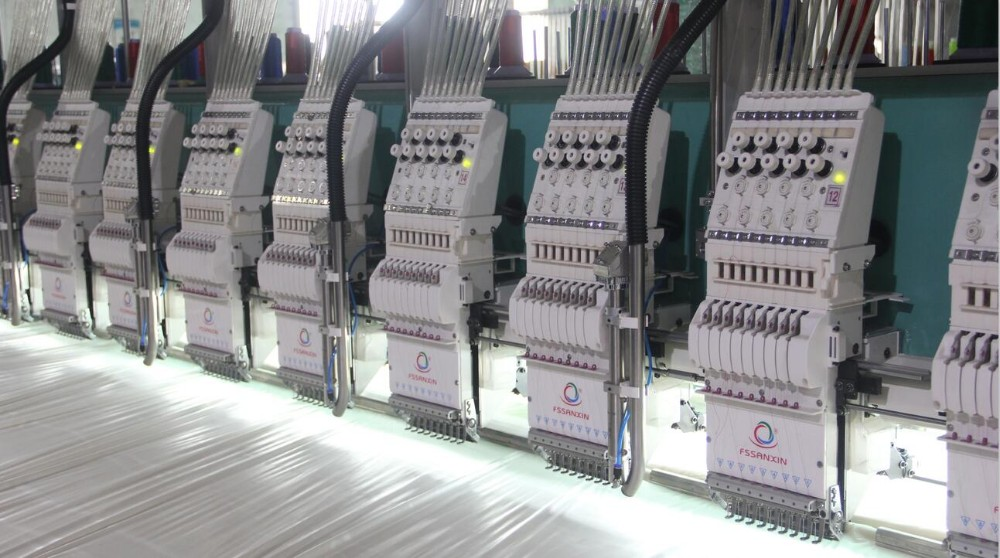 High speed 24 heads laser cutting flat embroidery machine