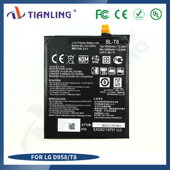 rechargeable mobile batteryBL-T8 Li-ion Battery D958 battery 3400mah for LG