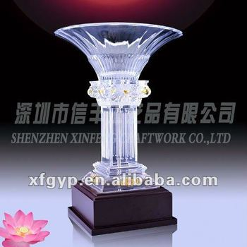 new fan shaped Acrylic Trophy Cup medals