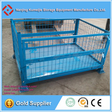ISO Warehouse Collapsible Steel Wire Mesh Pallet Container