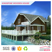 Beautiful Wooden Beach house Prefabricated Log cabin KPL-040