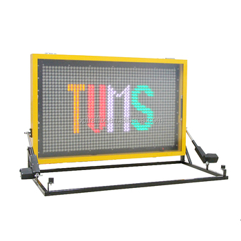outdoor programmable vehicle mounted vms led portable matrix display