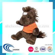 plush sitting horse cheap price toy