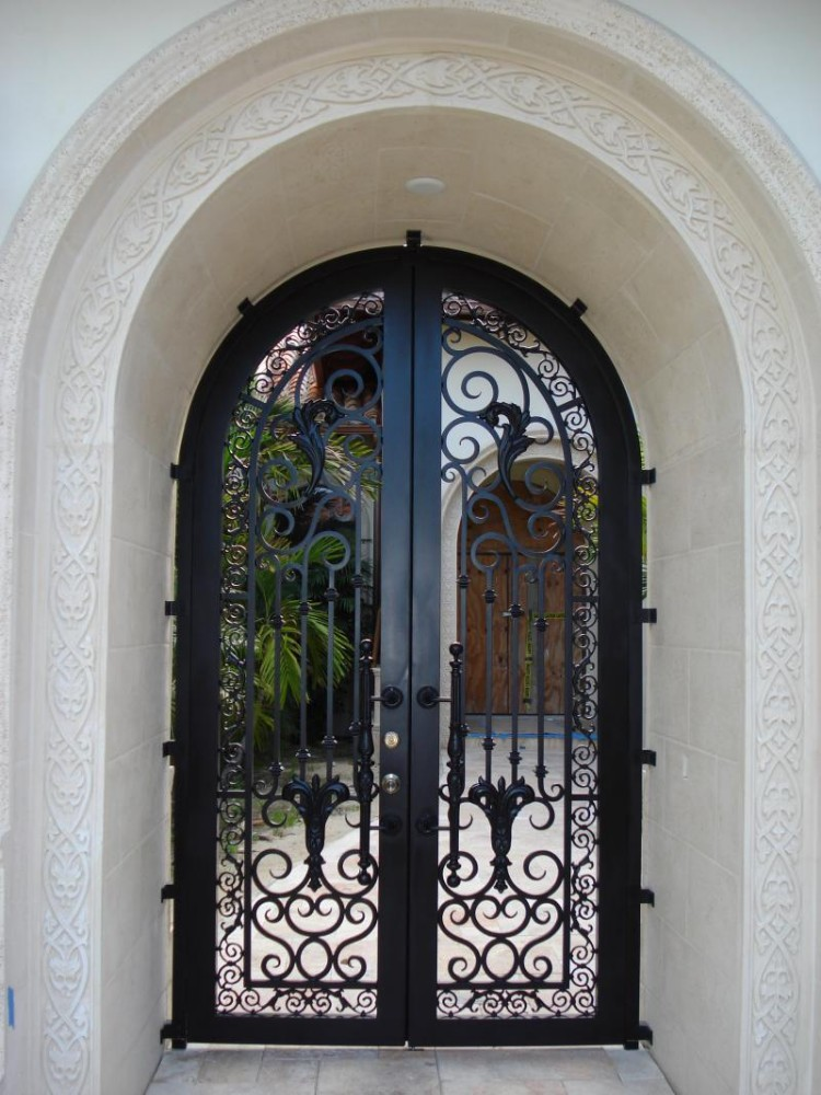 High quality luxury metal style french iron front door for Purchase french doors