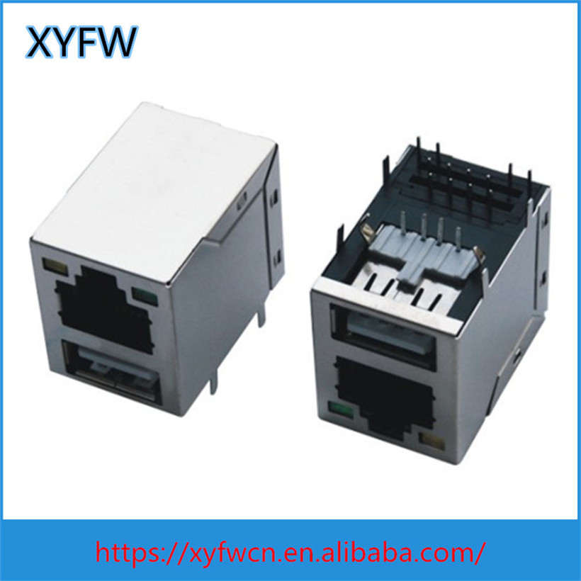 Wholesale best customized network rj45 female connector with usb