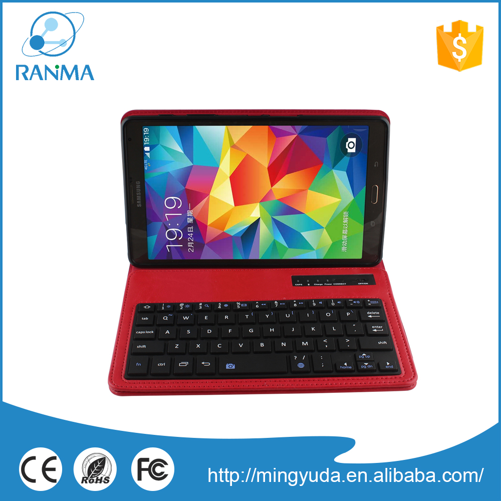 Removeable tablet pc bluetooth wireless keyboard case for Samsung