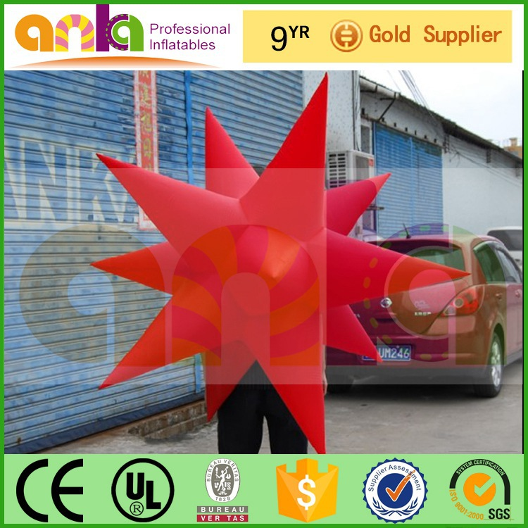 guangzhou city decoration inflatable star with warranty 12 months