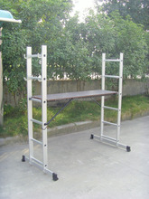 Lightweight and strong folding ladder scaffolding type with EN131 catwalk ladder