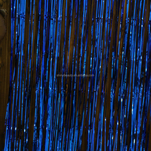 ShinyBeauty Shimmer Fring Curtain 12x8ft Royal Blue ,Glitter Bar Foil Curtain Strip Curtain for Photography Backdrop