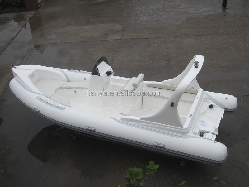 Liya fiberglass side console boat 6.2m racing rib ce rubber dinghy