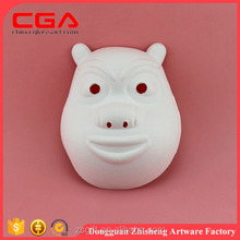 Custom white pig resin 3d wall mounted animal head paper crafts