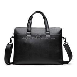 China manufacturer sell directly durable genuine leather men laptop briefcase