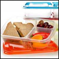 New plastic Lunch boxes 3 compartment Bento Lunch Box Containers Set for Kids Adult,custom plastic bento box container factory