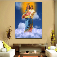 Light Up Christian Religion HD Print Canvas Art Painting Wall Decor LED Light Canvas Frame Painting
