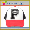 promotional 2014 new design with p panda ventilate unisex mesh cap