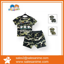 children kids baba suit Boys Short Sleeve pant ans T-shirt 2piece camouflage clothing