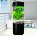 Acrylic Cylindrical Aquariums Acrylic round Fish Tank Small With Lighting System