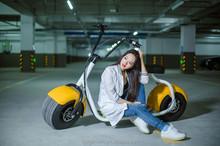 2017 hot selling 60V 1000W Citycoco electric scooter adult scooter with seats
