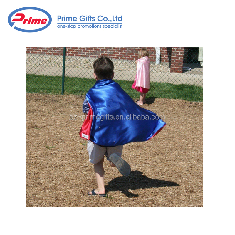 New Design Blue Superhero Cape and Mask for Kids with Custom Logo