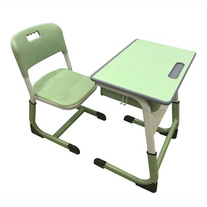 Classroom furniture height adjustable primary school student desk and chair