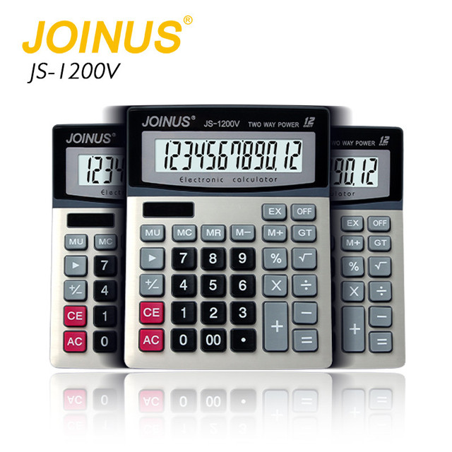 Wholesale Factory Price JOINUS 12 Digits Fractions Student Solar Calculator Lcd Display