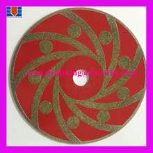 Special design vacuum brazed diamond saw blade for agate cutting