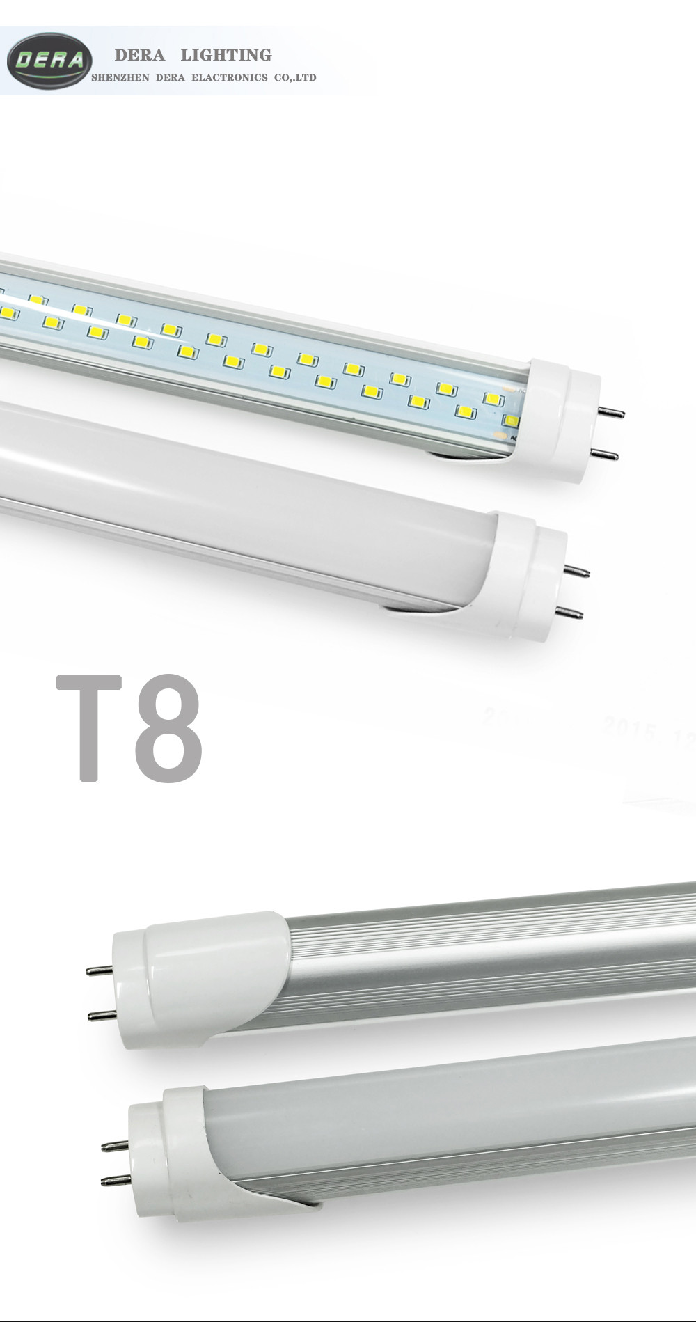 Double line chips led tube4ft 28w led tube indoor double line T8 led light