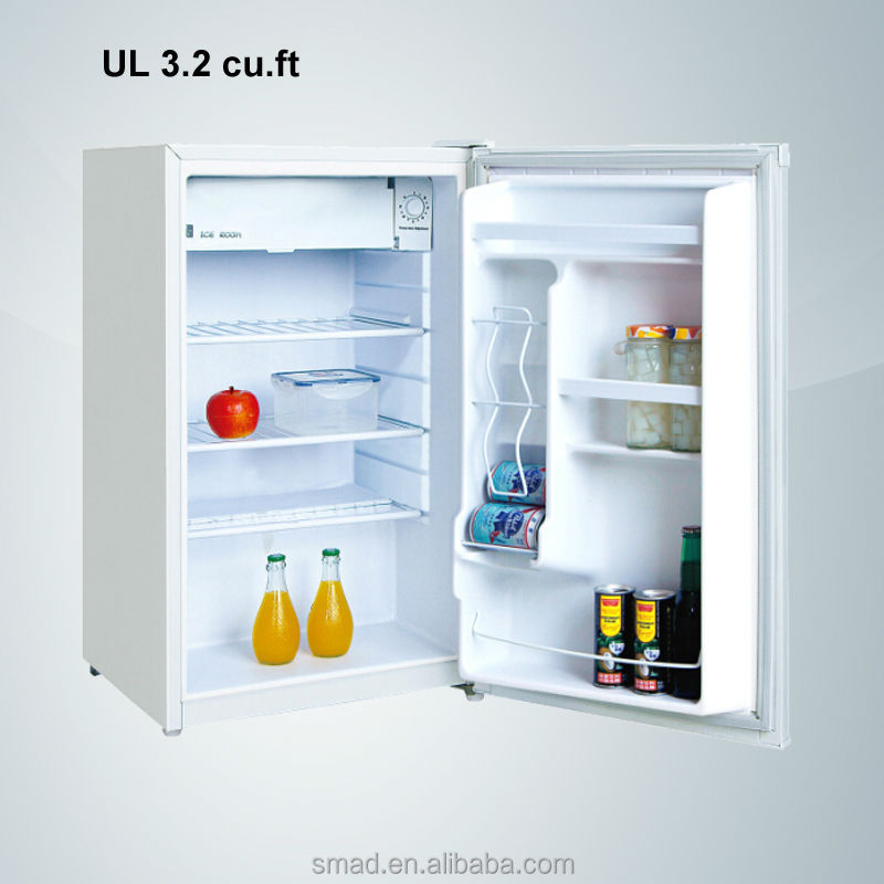 3.2cu.ft 90L UL approved small size mini fridge with manual defrost