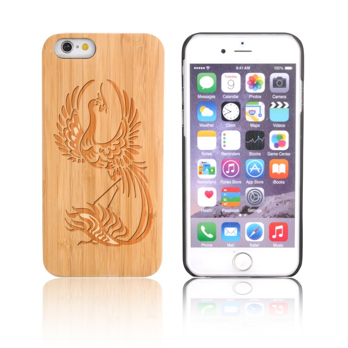 Bamboo Wood Anti-drop Phone Cover Case