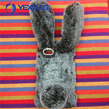 Hot Selling Long Ears Rabbit Plush Aniaml Warm Fur Cover Phone Case For Iphone5/5s