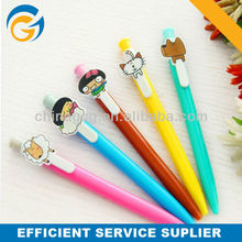 Promotion Colorful Cartoon Clip Plastic Ball Pen