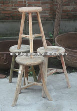 recycled wood furniture/Wooden three legged bar stool