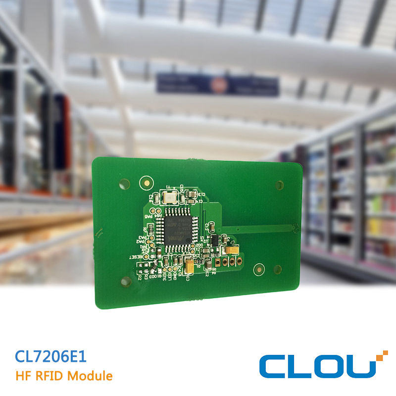 CL7206E1 short distance 5cm 13.56mhz rfid card reader for raspberry oem module