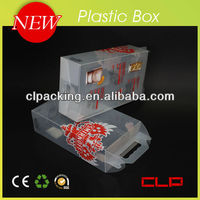 Custom folding transparent plastic gift boxes for wine box
