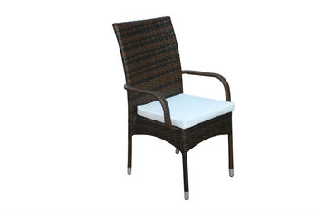home furniture armrest chairs plastic rattan aluminium frame
