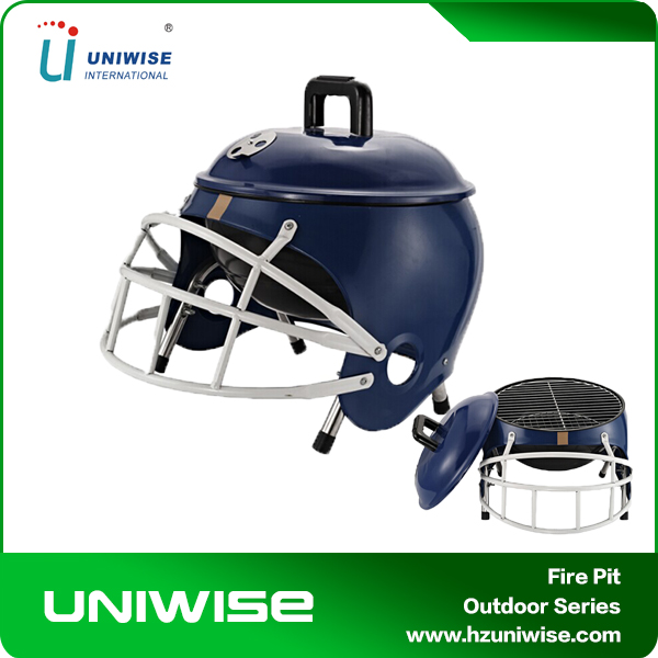 Outdoor/indoor American football helmet portable charcoal BBQ grills
