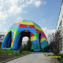 Giant customized colourful Spider inflatable tent for sale