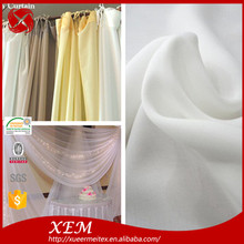 China Wholesale 100% Polyester Wide Sheer Chiffon Curtain Fabric For Ceiling Drape