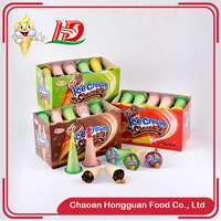 Wholesale ice cream shaped brands chocolate biscuit cup with crispy