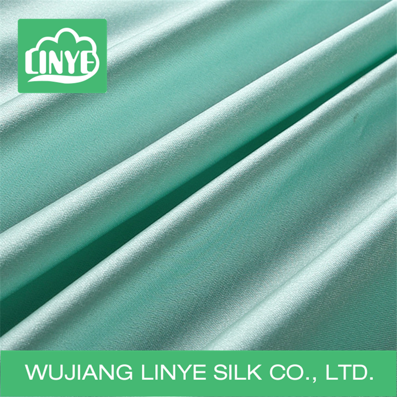 polyester stretch satin fabric / dance skirt fabric / stage decoration fabric